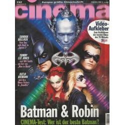 CINEMA 7/97 Juli 1997 - Batman & Robin