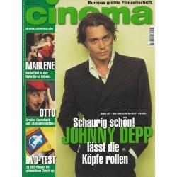 CINEMA 3/00 März 2000 - Johnny Depp