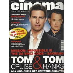 CINEMA 5/06 Mai 2006 - Tom Cruise & Tom Hanks