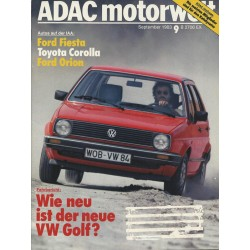 ADAC Motorwelt Heft.9 / September 1983 - Wie neu ist der neue Golf?
