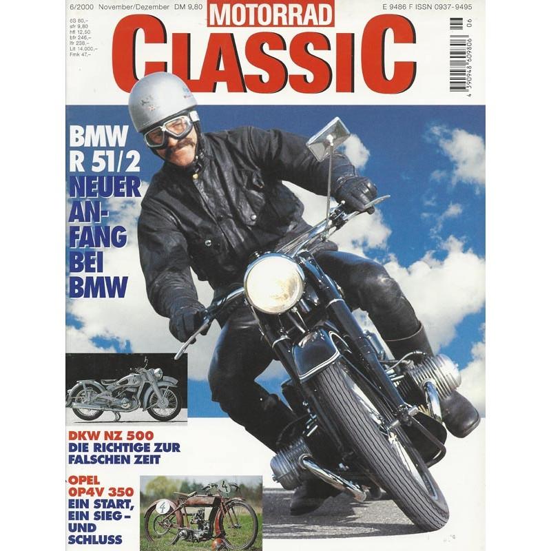 Motorrad Classic 6/00 - November/Dezember 2000 - BMX R 51/2