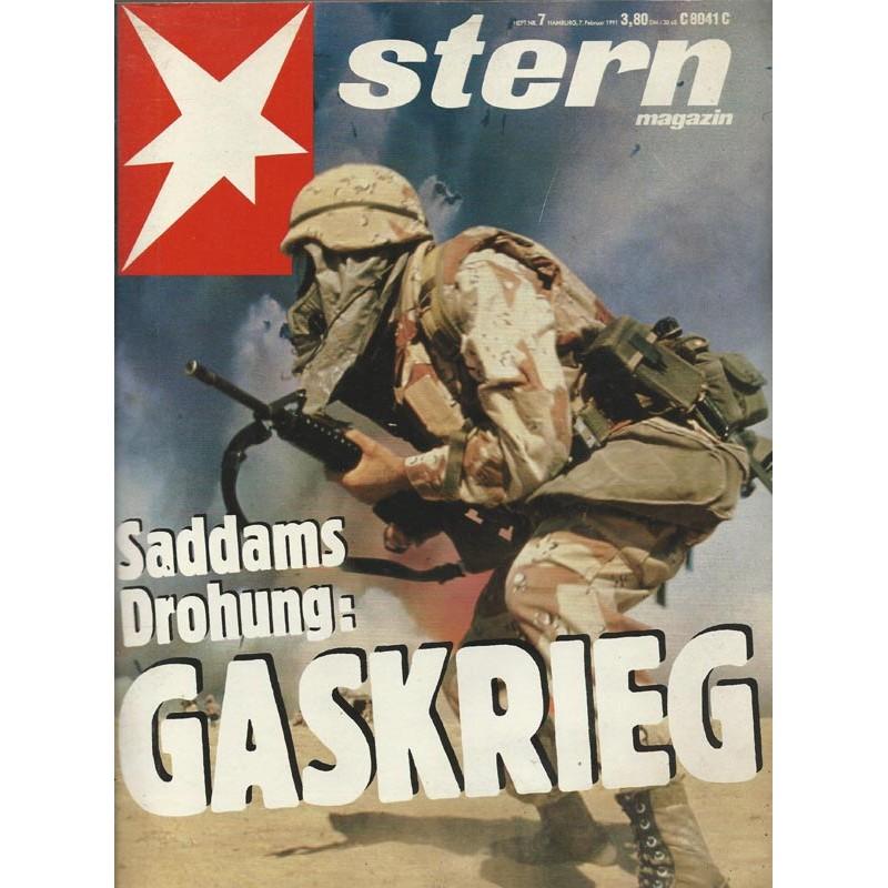 stern Heft Nr.7 / 7 Februar 1991 - Saddams Drohung: Gaskrieg