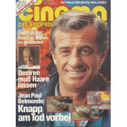 CINEMA 2/82 Februar 1982 - Jean Paul Belmondo