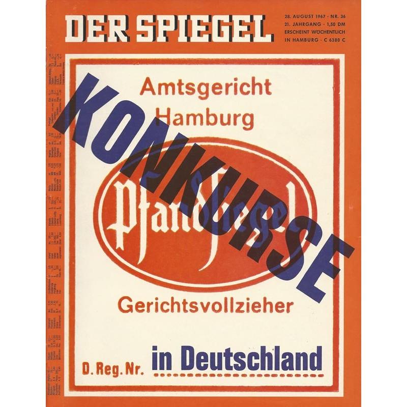 Der Spiegel Nr.36 / 28 August 1967 - Konkurse in Deutschland