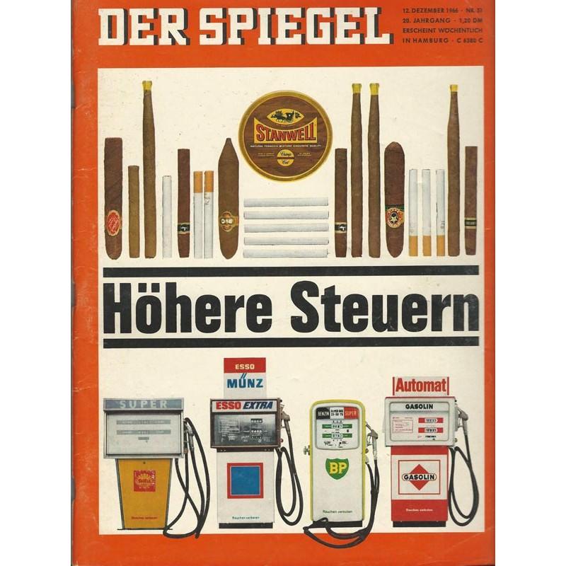 Der Spiegel Nr.51 / 12 Dezember 1966 - Höhere Steuern
