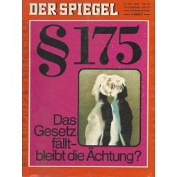 Der Spiegel Nr.20 / 12 Mai 1969 - §175 Das Gesetz fällt