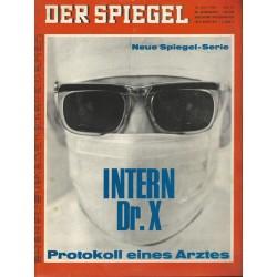 Der Spiegel Nr.21 / 16 Mai 1966 - Intern Dr.X