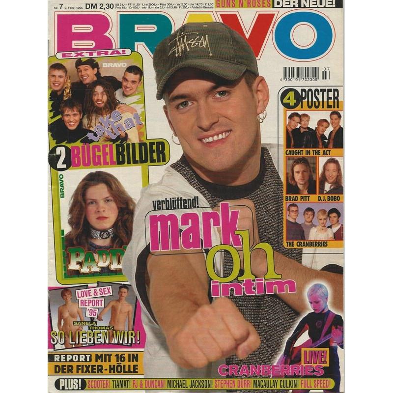 BRAVO Nr.7 / 9 Februar 1995 - mark oh intim
