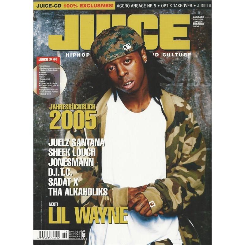 JUICE Nr.82 Januar Februar / 2006 & CD 60 - NEXT! Lil Wayne