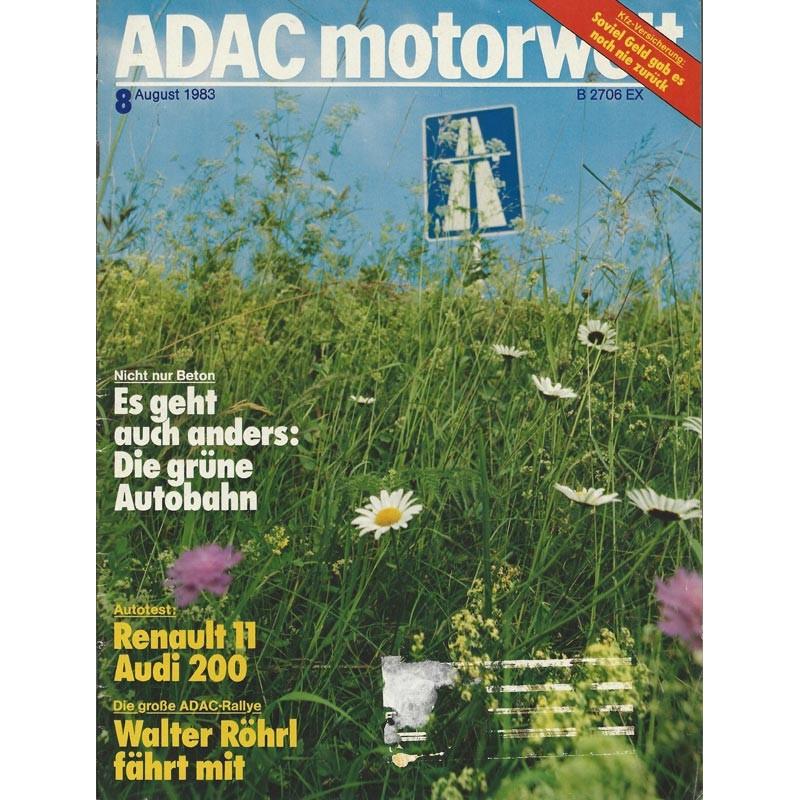 ADAC Motorwelt Heft.8 / August 1983 - Die grüne Autobahn