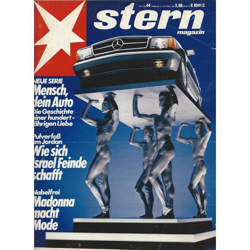 stern Heft Nr.44 / 24 Oktober 1985 - Mensch dein Auto