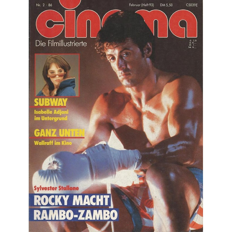 CINEMA 2/86 Februar 1986 - Rocky macht Rambo-Zambo