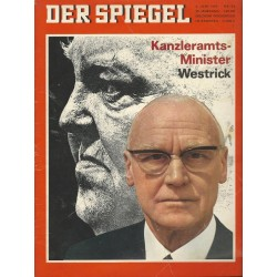 Der Spiegel Nr.24 / 6 Juni 1966 - Kanzleramts-Minister Westrick
