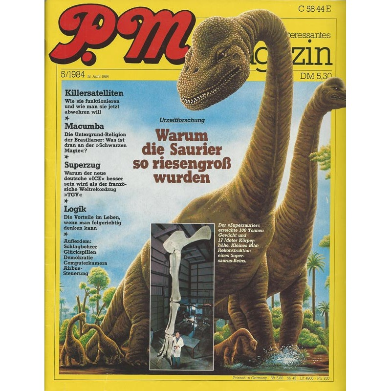 P.M. Ausgabe Mai 5/1984 - Warum die Saurier so riesengroß wurden