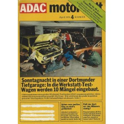 ADAC Motorwelt Heft.4 / April 1975 - Werkstatt-Test