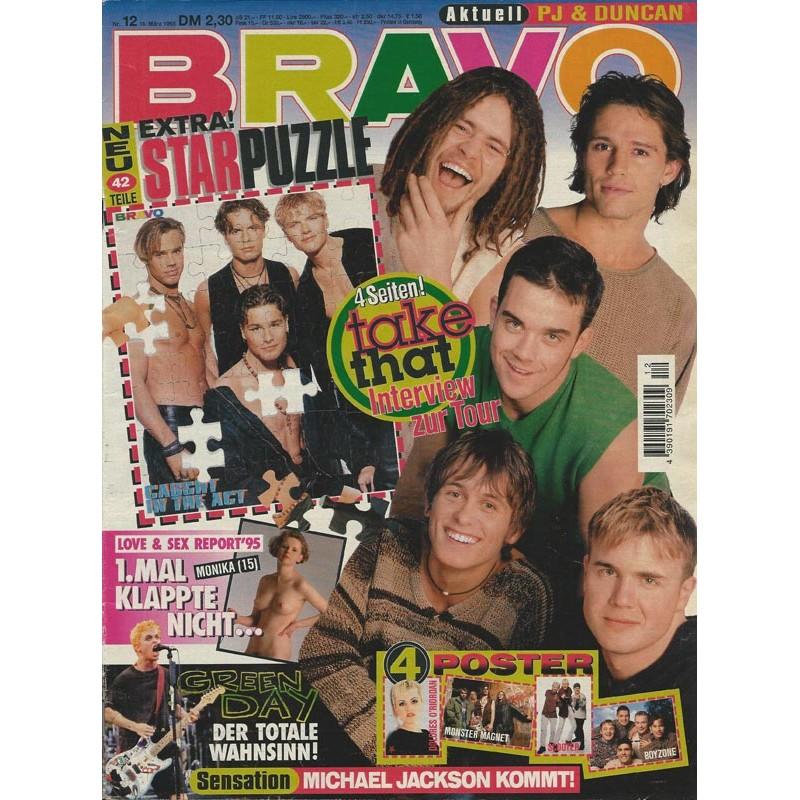 BRAVO Nr.12 / 16 März 1995 - Take That Interview zur Tour
