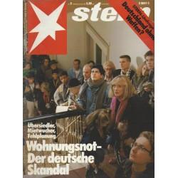 stern Heft Nr.9 / 22 Februar 1990 - Wohnungsnot