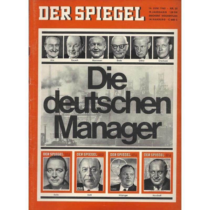 Der Spiegel Nr.25 / 16 Juni 1965 - Die deutschen Manager