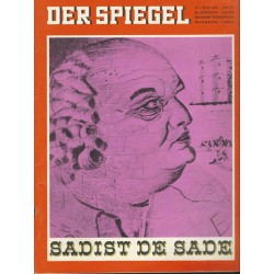 Der Spiegel Nr.27 / 27 Juni 1966 - Sadist De Sade