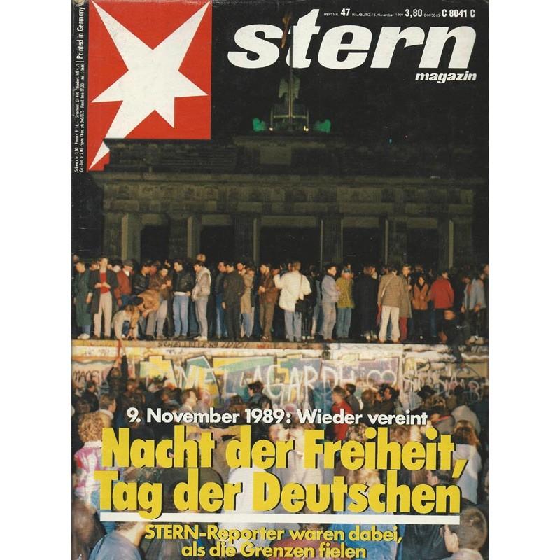 stern Heft Nr.47 / 16 November 1989 - Nacht der Freiheit