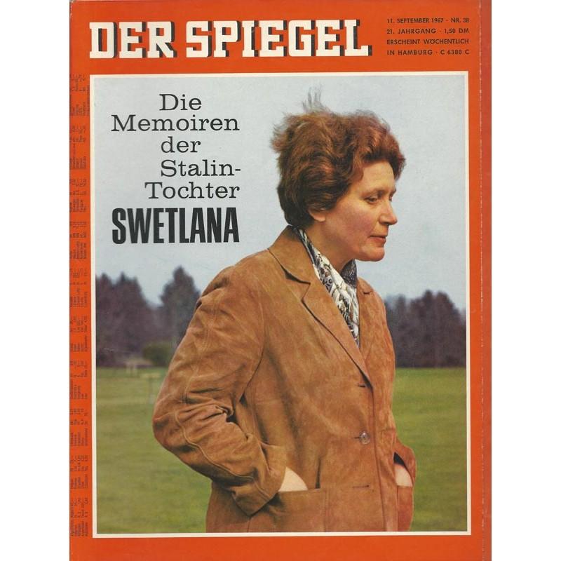Der Spiegel Nr.38 / 11 September 1967 - Swetlana
