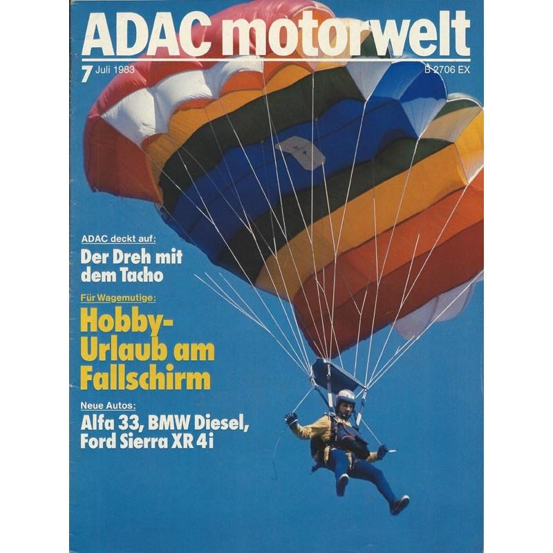 ADAC Motorwelt Heft.7 / Juli 1983 - Hobby Urlaub am Fallschirm