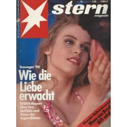 stern Heft Nr.25 / 13 Juni 1990 - Wie die Liebe erwacht