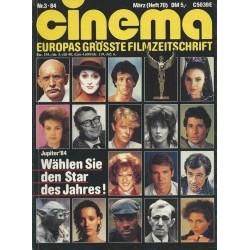 CINEMA 3/84 März 1984 - Jupiter 1984