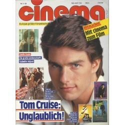 CINEMA 5/89 Mai 1989 - Tom Cruise: Unglaublich!