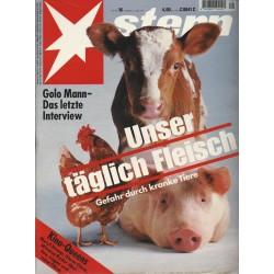 stern Heft Nr.16 / 14 April 1994 - Unser täglich Fleisch