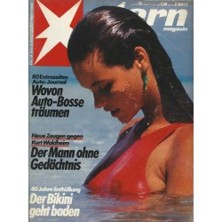 stern Heft Nr.24 / 5 Juni 1986 - Der Bikini geht baden