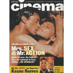 CINEMA 11/94 November 1994 - Mrs. Sex & Mr. Action