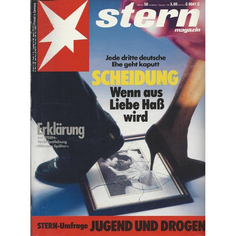stern Heft Nr.50 / 7 Dezember 1989 - Scheidung