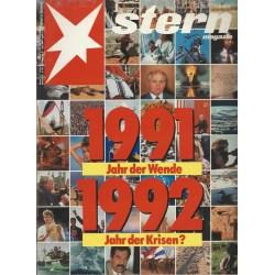 stern Heft Nr.2 / 2 Januar 1992 - Jahr der Wende, Jahr der Krisen?