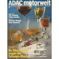 ADAC Motorwelt Heft.2 / Februar 1982 - Promille Sünder