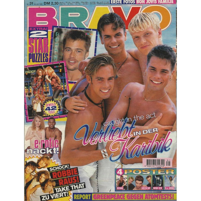 BRAVO Nr.31 / 26 Juli 1995 - Caught in the act Verliebt Karibik