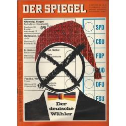 Der Spiegel Nr.38 / 15 September 1965 - Der deutsche Wähler