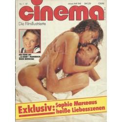 CINEMA 1/87 Januar 1987 - Sophie Marceaus heiße Liebesszenen
