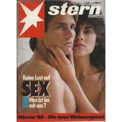 stern Heft Nr.15 / 7 April 1988 - Keine Lust auf Sex