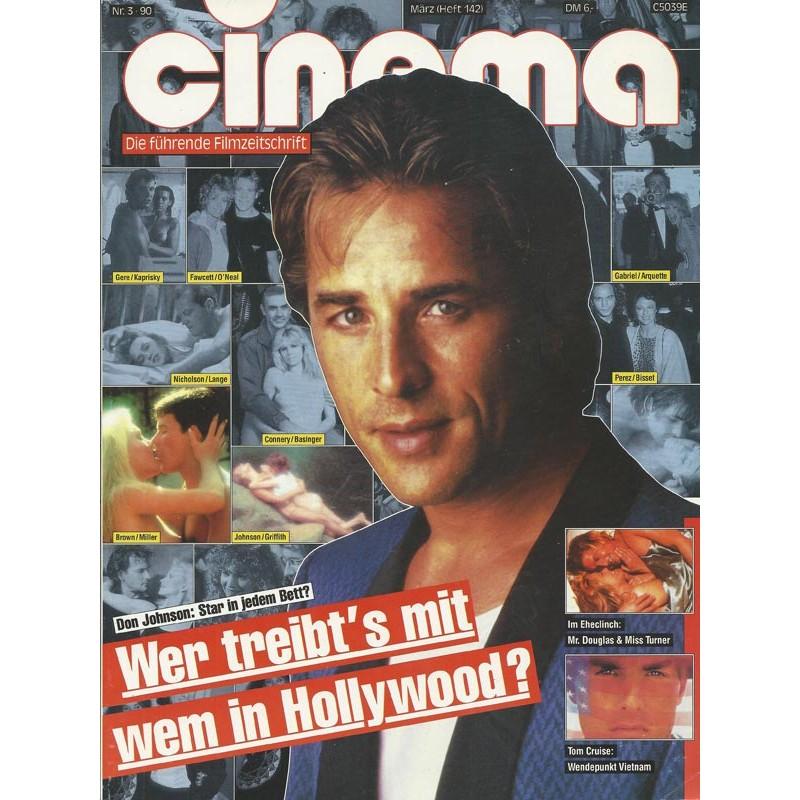 CINEMA 3/90 März 1990 - Don Johnson: Star in jedem Bett?