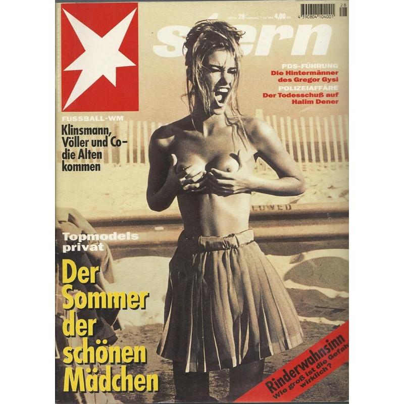 stern Heft Nr.28 / 7 Juli 1994 - Topmodels Privat