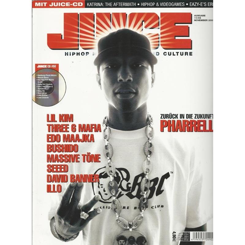 JUICE Nr.80 November / 2005 & CD 58 - Pharrell