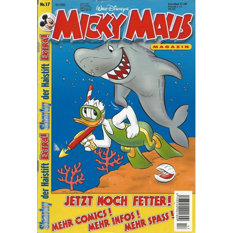Micky Maus Nr. 17 / 18 April 2002 - Jetzt noch fetter!