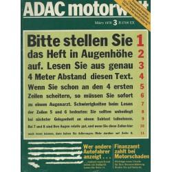 ADAC Motorwelt Heft.3 / März 1978 - Sehtest für Autofahrer