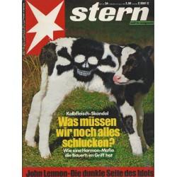 stern Heft Nr.34 / 18 August 1988 - Kalbfleisch Skandal