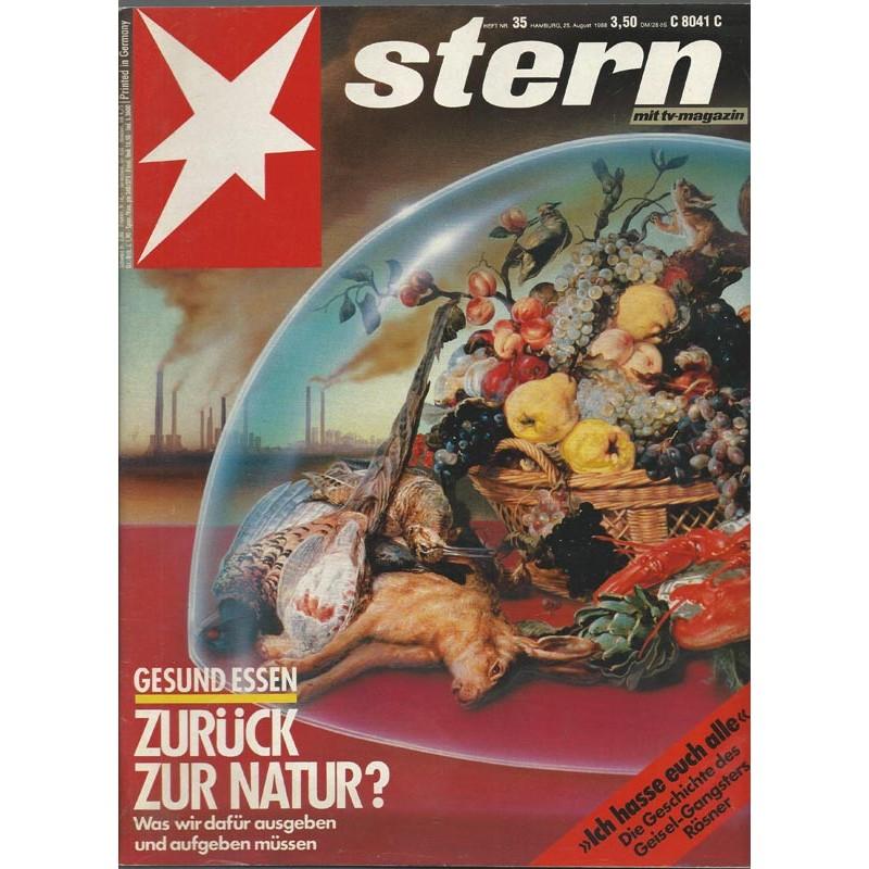 stern Heft Nr.35 / 25 August 1988 - Zurück zur Natur?