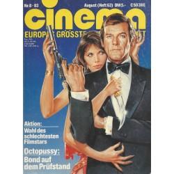 CINEMA 8/83 August 1983 - Octopussy: Bond aus dem Prüfstand