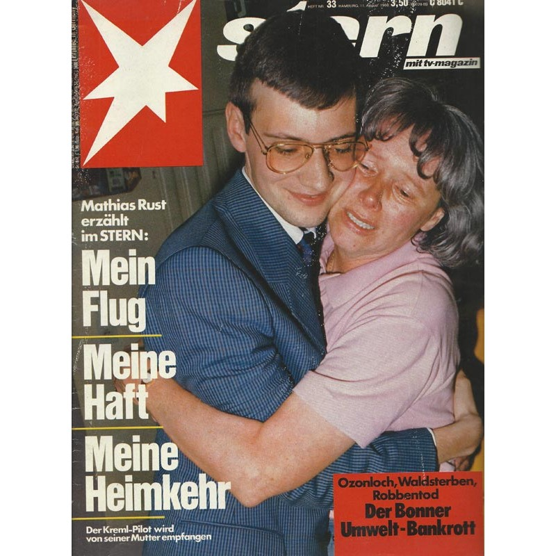 stern Heft Nr.33 / 11 August 1988 - Mathias Rust erzählt