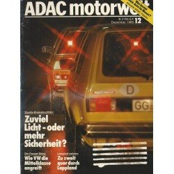 ADAC Motorwelt Heft.12 / Dezember 1980 - Zusats Bremsleuchten