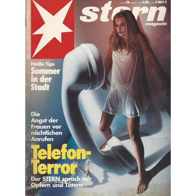 stern Heft Nr.28 / 2 Juli 1992 - Telefon Terror